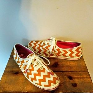 Keds for Kate Spade Chevron Print Canvas Sneakers